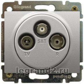 Розетка TV-FM-SAT Legrand DIY Galea Life 1,5 dB (Алюминий)