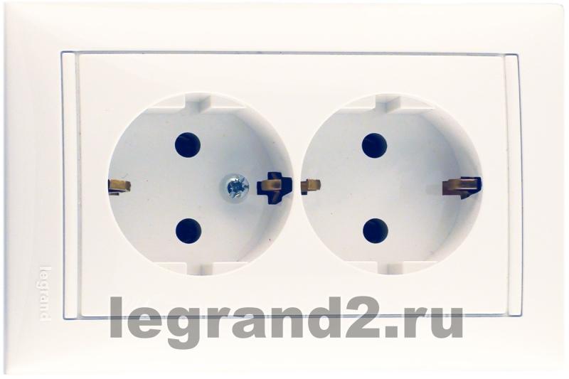 Розетка Legrand Mosaic для колонки 2 модуля  78751