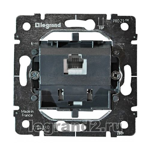 Розетка Legrand Mosaic 2К+З c автоматическими клеммами стандартная 77431