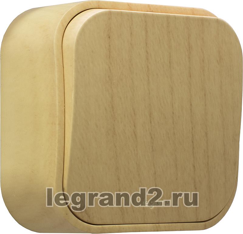 Выключатель Legrand Quteo 10А 2 клавиши белый 782202
